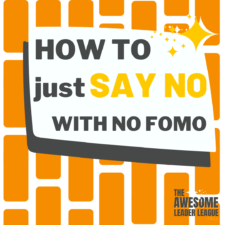 how to say no training