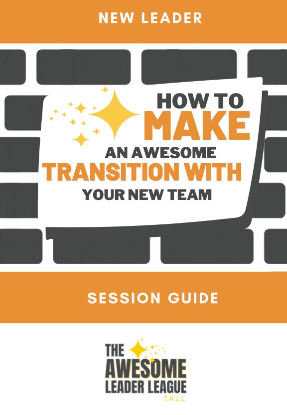 Bonus: New Leader Transition Session Guide