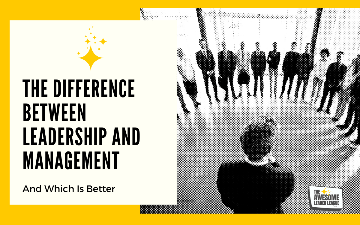 the difference between leadership and management blog post